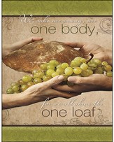 One Body One Loaf Sharing Grapes and Bread (1 Corinthians 10:17, NIV) Large Bulletins, 100