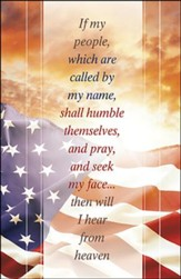 Pray and Seek my Face Flag and Sunrise (2 Chronicles 7:14) Large Bulletins, 100