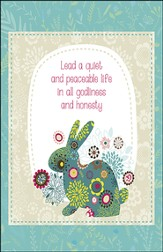 Quiet and Peaceable Life Flower Bunny (1 Timothy 2:2) Bulletins, 50