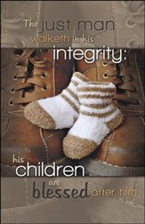 Walk in Integrity Father's and Baby's Shoes (Proverbs 20:7) Large Bulletins, 100