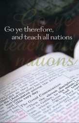 Teach All Nations Open Bible and Globe (Matthew 28:19) Bulletins, 100