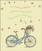 Beauty Unfading Bicycle and Tulips (1 Peter 3:3-4, NIV) Large Bulletins, 100