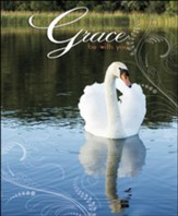 Grace Be With You Swan (2 Timothy 4:22) Large Bulletins, 100