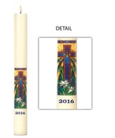 Radiant Light Mosaic Paschal Candle, 1.94 inches x 36 inches