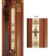 Coronation Paschal Candle, 1.94 inches x 27 inches