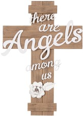 There Are Angels Among Us Wall Cross