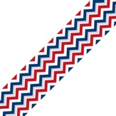 Patriotic Chevron Straight Border Trim
