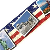 U.S. Landmarks Postcards Straight Border Trim