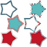 Patriotic Stars Accents, Pack of 36