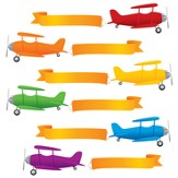 Planes and Banners Accents, Pack of 72