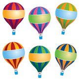 Hot Air Balloons Accents, Pack of 36