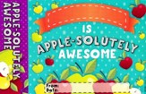 Apple-solutely Awesome Bookmark Award, Pack of 30