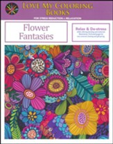 Flower Fantasies, Love My Coloring Books