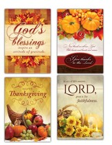 Giving Thanks, Box of 12 Thanksgiving Cards (KJV)