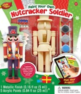 Nutcracker Soldier, Wood Paint Kit