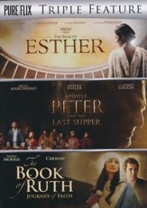 Pureflix Triple Feature: The Book of Esther, Apostle Peter & The Last Supper, and The Book of Ruth