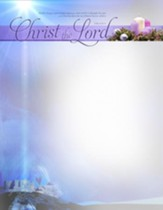 A Child Is Born Christ The Lord (Luke 2:10-11, KJV) Christmas Stationery, 100