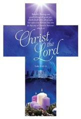 A Child Is Born Christ The Lord (Luke 2:10-11, KJV) Cross Design Bookmarks, 25
