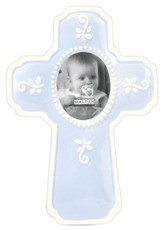 Ceramic Cross, Blue
