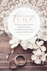 Two Shall Become One (Ephesians 5:31, KJV) Wedding Bulletins, 100