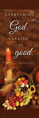 Thanksgiving Bookmarks (1 Timothy 4:4, NIV) 25