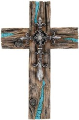 Classic Wall Cross with Turquoise