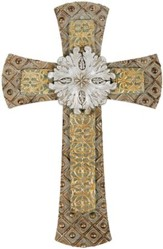 Classic Wall Cross with Medallion