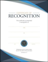 Recognition Certificates (Colossians 3:17) Package of 6