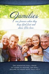Families (Psalm 145:4) Bulletins, 100