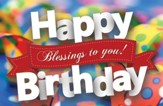 Birthday Blessings Postcards (Philippians 4:4) Pack of 25