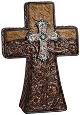 Leather Pedestal or Wall Cross