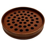Dark Walnut Finish Hardwood Communion Tray