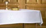 Linen Altar Frontal, with IHS Design
