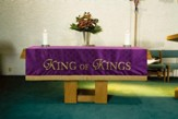 Maltese Jacquard Altar Frontal, Purple (King of Kings)