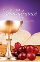 Do This (Luke 22:19) KJV Communion Bulletins, 100