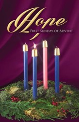 Traditional Wreath Advent Hope Bulletins, 100
