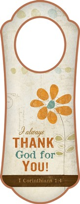 I Always Thank God for You! Door Hanger