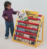 5-Pocket Clear Classroom Book Display with Caster Wheels