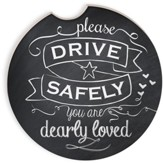Please Drive Safely Chalkboard Car Coaster