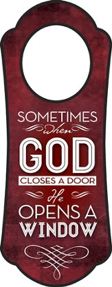 When God Closes A Door, Door Hanger