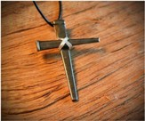 Ironfish Wire Wrapped Nail Cross Pendant
