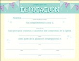 Certificado de Dedicación, Paquete de 6 (Certificate of Dedication, Pack of 6)