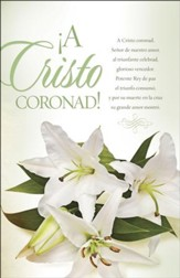 Cristo coronado Pascua Boletines (Crown Him with Many Crowns Easter Bulletins) 100