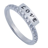 Love, Eternity Women's Ring, Size 5 (1Corinthians 13:4-8)