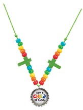 Collar con tapita de botella (Bottle Cap Necklace, Pack of 12)