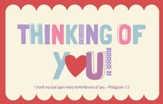 Thinking Of You Postcards, 25
