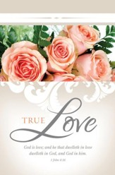True Love (1 John 4:16, KJV) Wedding Bulletins, 100