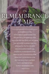 In Remembrance of Me Communion Bulletins, 100