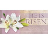 He Is Not Here, For He Is Risen Easter Offering Envelopes, 100