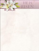 He Is Not Here, For He Is Risen (Matthew 28:5-6, KJV) Easter Letterhead, 100